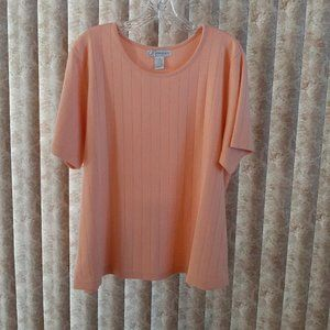 Peach crew neck t-shirt short sleeve 18/20